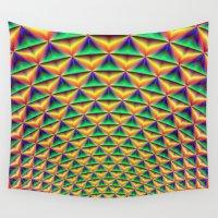 fibonacci Wall Tapestries featuring Pineapple Chunk by Objowl