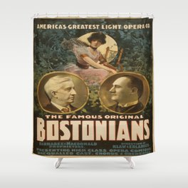 Vintage poster - The Famous Original Bostonians Shower Curtain