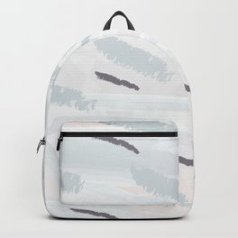 Elegant abstract background in light pastel colors. Hand drawn texture. Freehand brushstrokes. Vecto Backpack