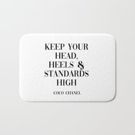 coco quote Bath Mat