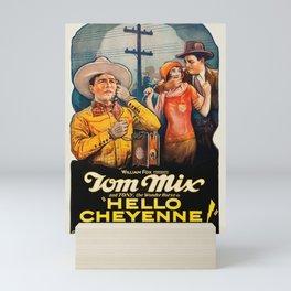 Hello Cheyenne - Vintage 1928 American Silent Film Poster Mini Art Print