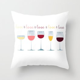 Love is Love is Love is Wine Throw Pillow