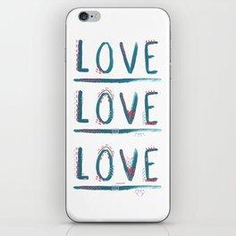 Love Love Love iPhone Skin