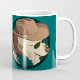 Golden Retriever in a Cowboy Hat Coffee Mug