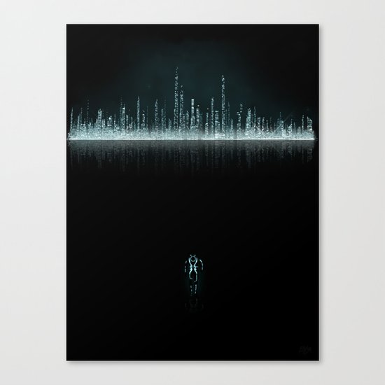 TRON CITY Canvas Print
