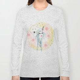 Girl and wolf Long Sleeve T-shirt