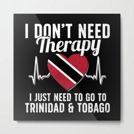 Trinidad and Tobago flag I Caribean Souvenirs Metal Print