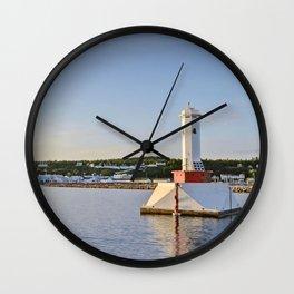 Light house at Mackinac Island - Michigan Wall Clock