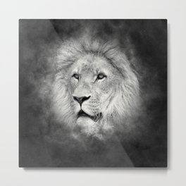 black Lion Metal Print