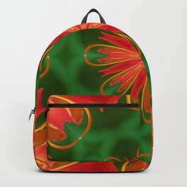 Ruby Red Spider Lily Kaleidoscope Backpack