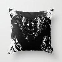 werewolf Throw Pillows featuring Werewolf by PCRK