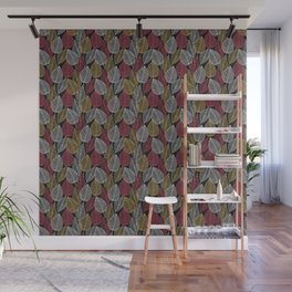 leaf pattern lacy skeleton Wall Mural