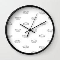 teeth Wall Clocks featuring teeth by Black Bear / White Bear