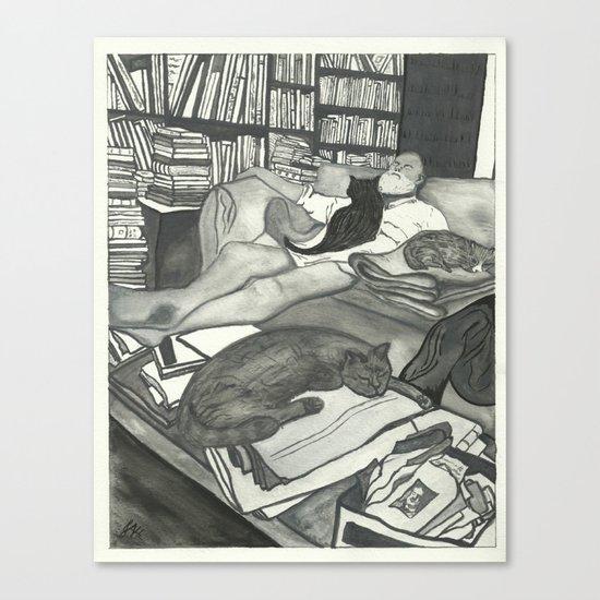 Edward Gorey Portrait Canvas Print