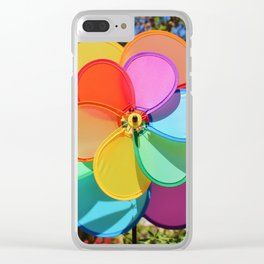 Rainbow Wind Spinner Clear iPhone Case