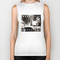 theater Biker Tanks featuring Turnage Theater by Justin Alan Casey