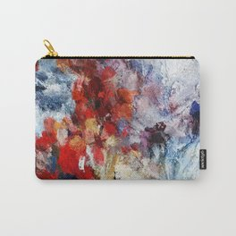 Modern Abstract Painting in Red / Blue Tones Carry-All Pouch