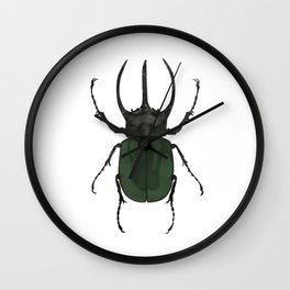 Atlas Beetle Insect Digital Watercolor Wall Clock