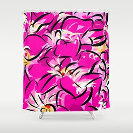 Pink Oblivion Shower Curtain