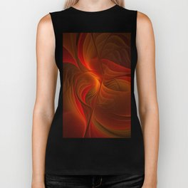 Warmth, Abstract Fractal Art Biker Tank