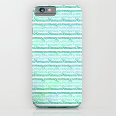 chevron blue&green iPhone 6 Slim Case
