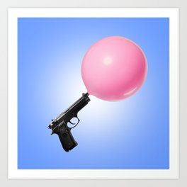 Bubblegun Art Print