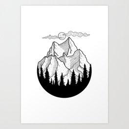 Landscape, Nature Art Art Print