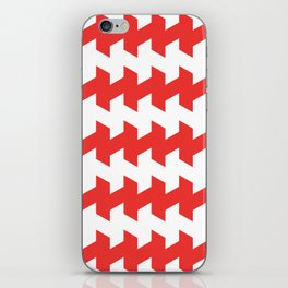 jaggered and staggered in poppy red iPhone Skin