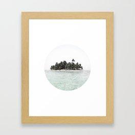 my island Framed Art Print