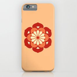 Lotus Flower Mandala, Pastel Orange and Mandarin iPhone Case