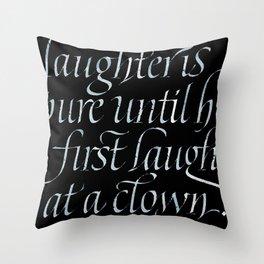 Laugh at a clown Throw Pillow