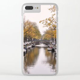 Autumn on Amsterdam's canals Clear iPhone Case