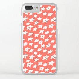 Stars Living Coral Clear iPhone Case