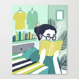 Voracious Reader Canvas Print