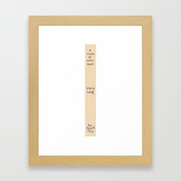 A Room Of One's Own 1929 – Virginia Woolf First Edition Spine Framed Art Print