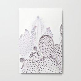 WHITE CACTUS Metal Print