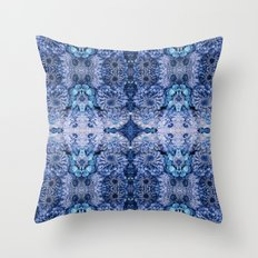 Frozen floral, nature, woodland, hippie, mandala, psychedelic Throw Pillow