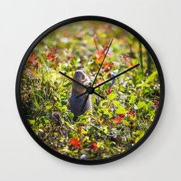 Breakfast on the Grass Wall Clock
