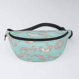 Swimming Otters Fanny Pack