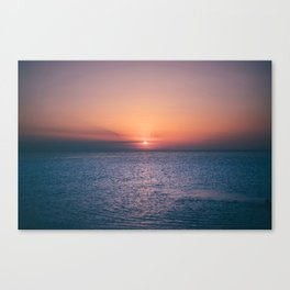 Beach Sunset // Landscape Photography Canvas Print