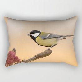 Songbird (Great Tit) on Autumn Day #decor #society6 #buyart Rectangular Pillow