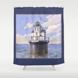 Fourteen Foot Bank Lighthouse, Delaware Shower Curtain