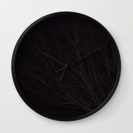 Into the Darkness of Winter Wall Clock