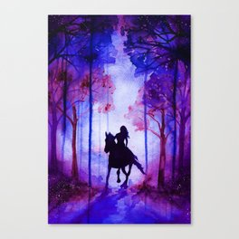 Horse and Rider Purple Edition Canvas Print
