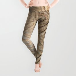 Wooden carving southwest Leggings