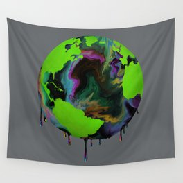 Our Future With Oil Dark Wall Tapestry