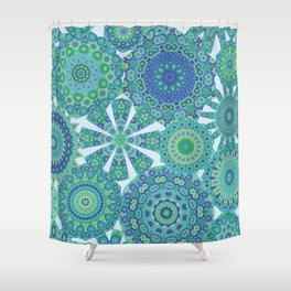 Millefiori Karma-Oceania colorway Shower Curtain