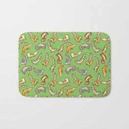 geckos in green Bath Mat