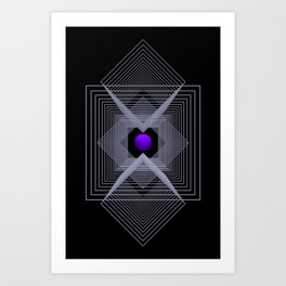 just a little point -3- Art Print