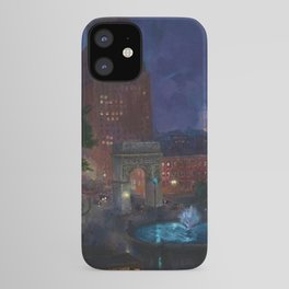 American Masterpiece 'Wet Night, Washington Square, Greenwich Village, NY' by John French Sloan iPhone Case